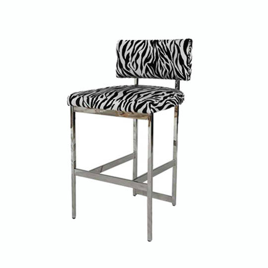 Expedition Barstool With Zebra Fabric