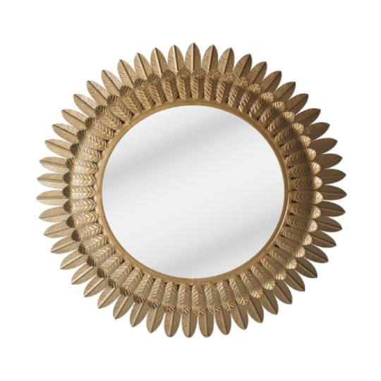 Feather Leaf Mirror