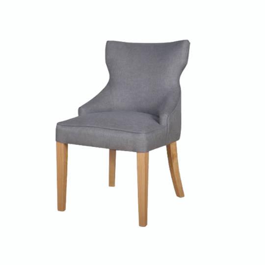 Fleur Dining Chair Grey Fabric