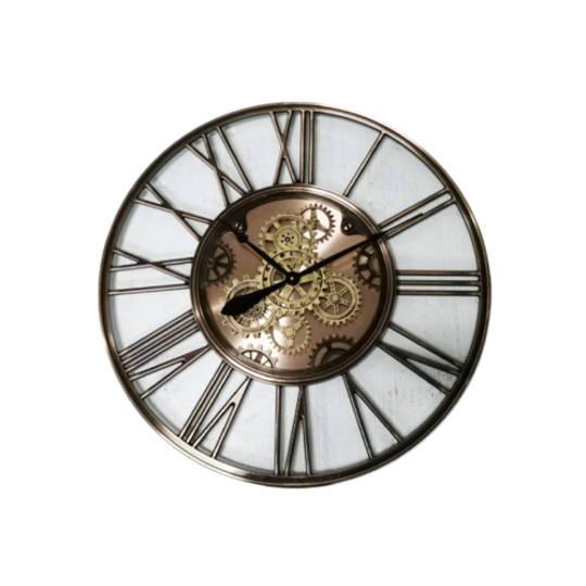 Gear Clock Glass