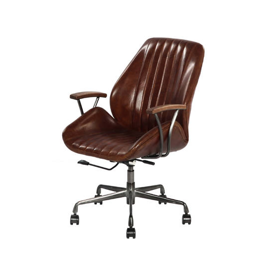 Gloucester Vintage Leather Office Chair Height Adjustable