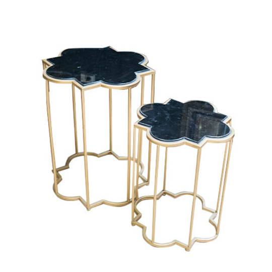 Gold & Black Marble Tables Set of 2