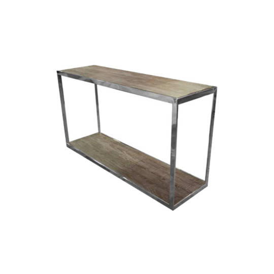 Hamstead Console Stainless Steel With Heritage Oak