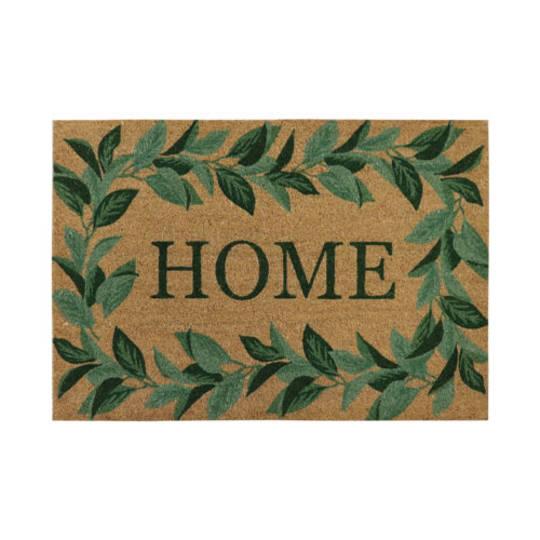 Home Leaf Border Doormat