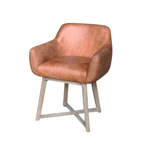 Hugo Dining Chair Tub Tan