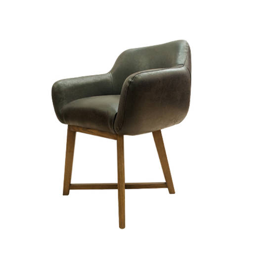 Hugo Dining Chair Tub Dark Brown
