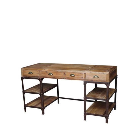 Vintage Industrial Writing Desk
