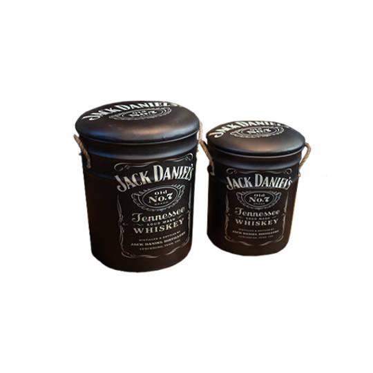 Storage Stool Jack Daniels