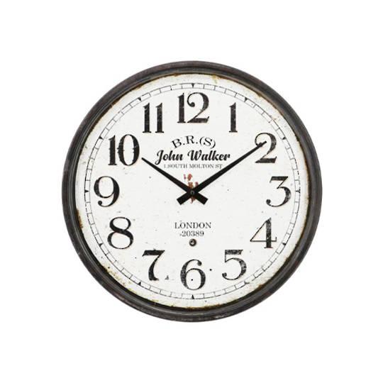 John Walker Iron Wall Clock