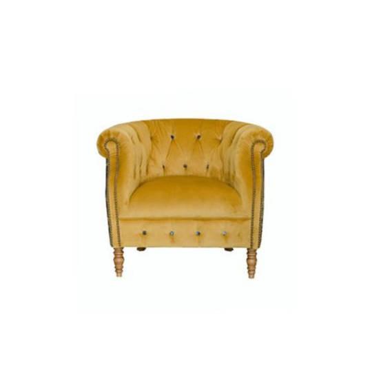 Jude Chair Plush Velvet Turmeric