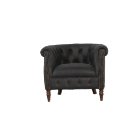 Jude Chair Charcoal Leather