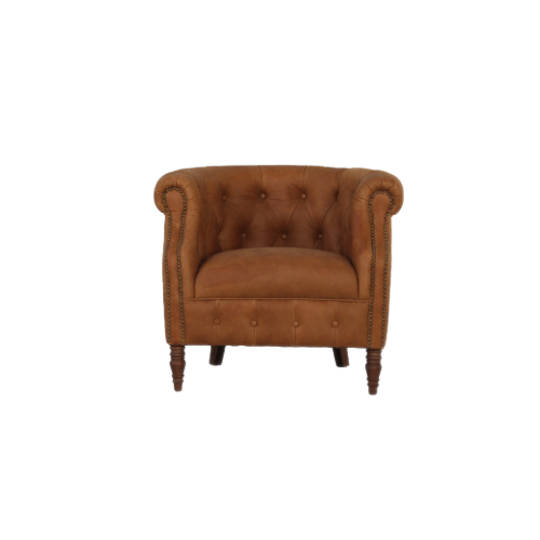 Jude Chair Leather Tan