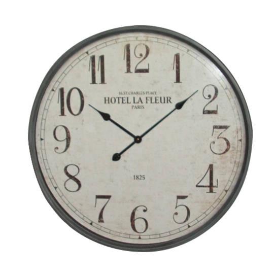 La Fleur Gunmetal Clock