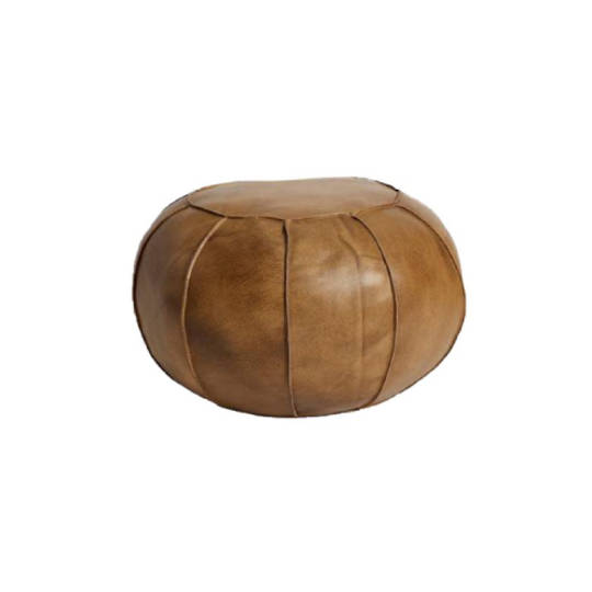 Leather Puff Vintage Brown