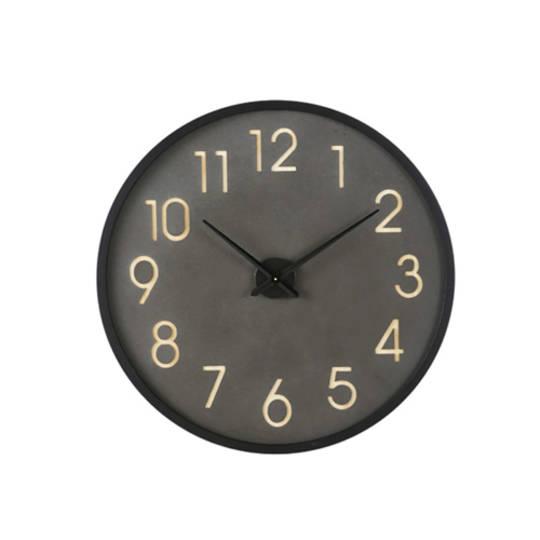 Leo Iron Wall Clock