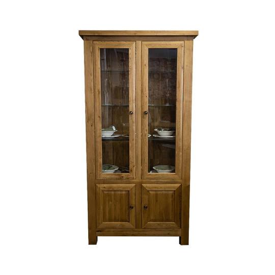 Light Oak Display Cabinet