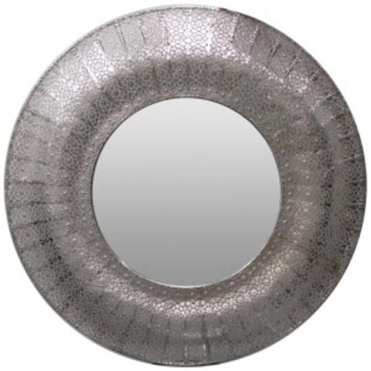 Marrakesh Mirror Round Silver