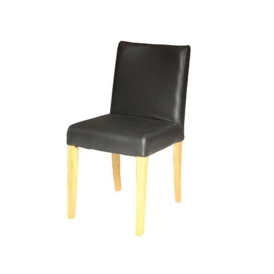 Melbourne Leather Dining Chair Black