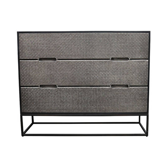 Melody Metal & Wood 3 Drawer Chest