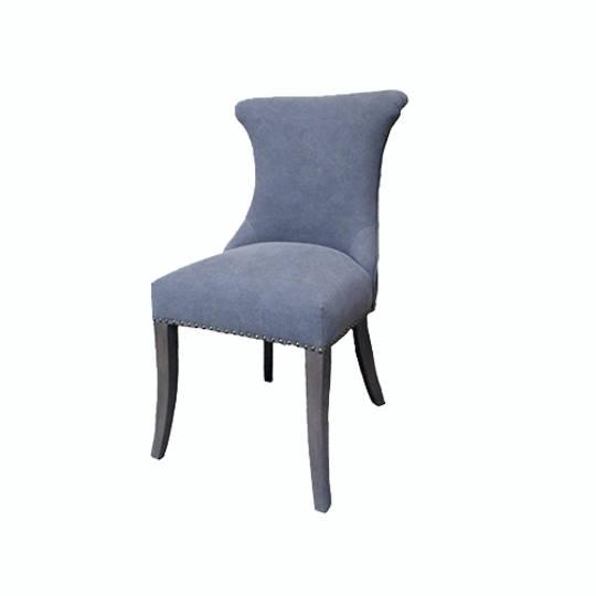 Miami Dining Chair Grey Canvas Oak