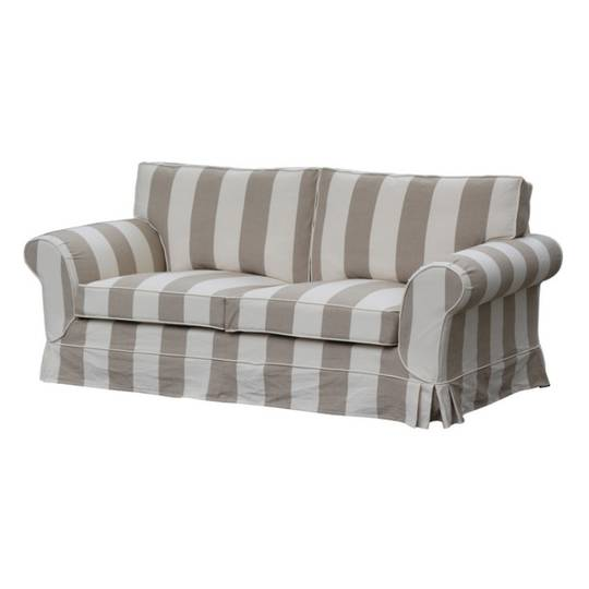 Isla Feather Filled 2 Seater Sofa Striped Natural