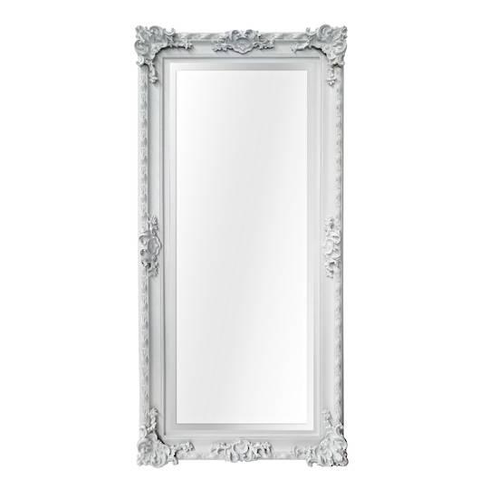 Baroque Beveled Mirror White