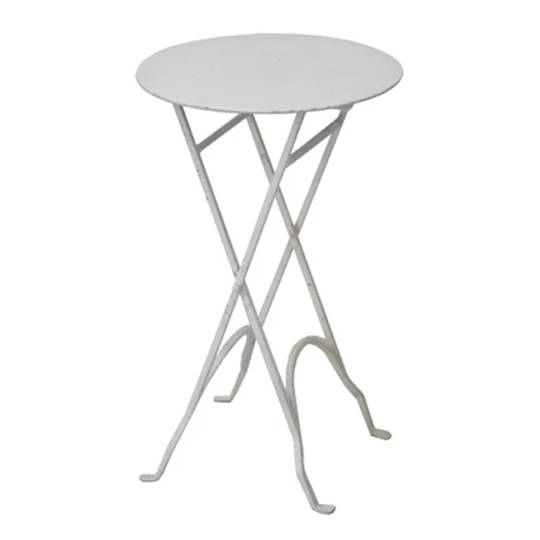 Round Narrow Side Table Metal