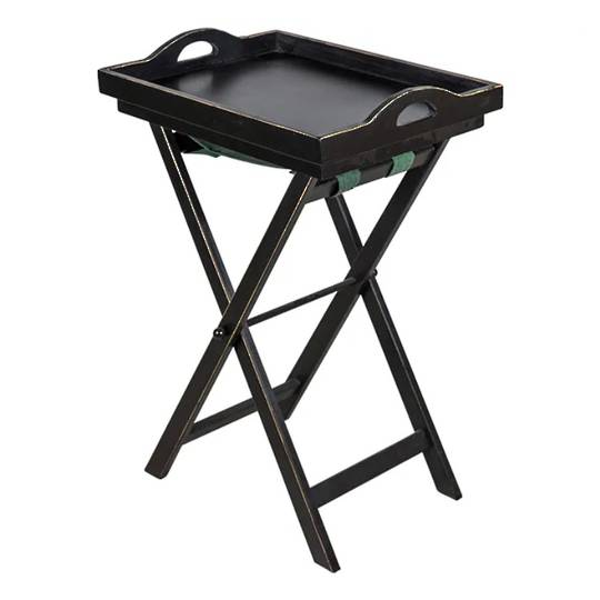 Black Wooden Tray Table
