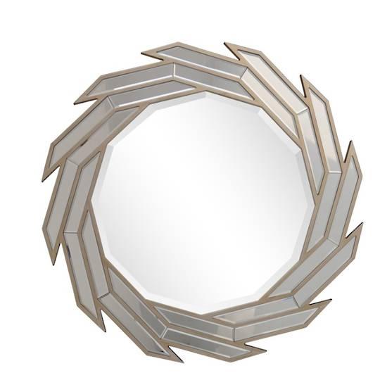 Blade Round Bevelled Mirror