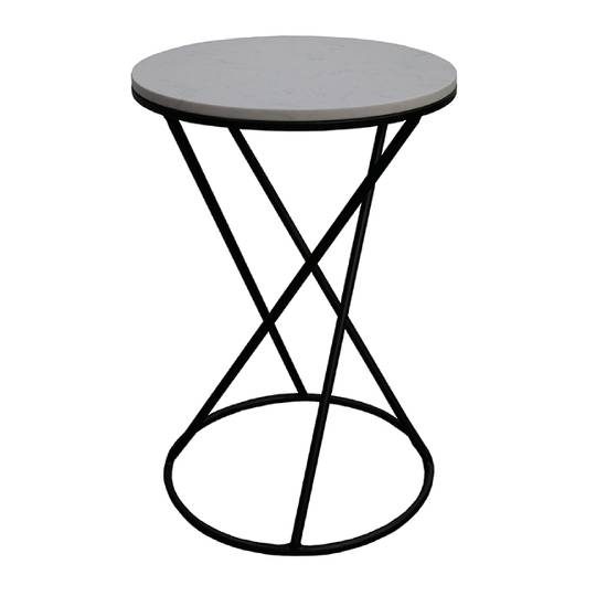 Menorca Side Table White Marble