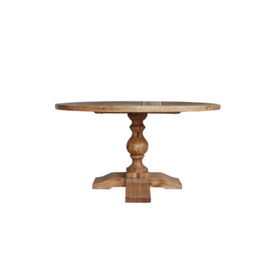 Oak Round Dining Table 1.4M