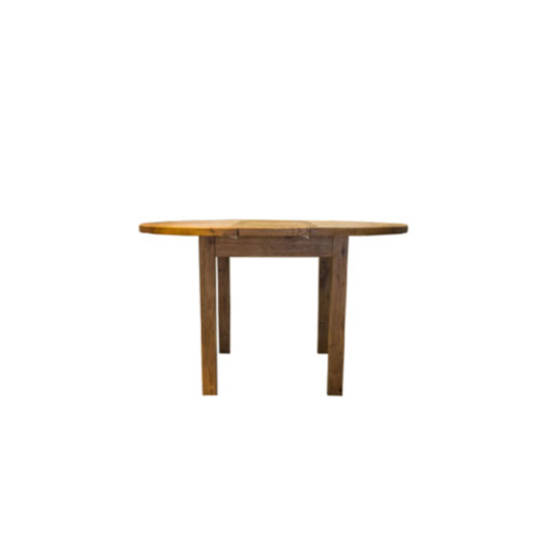 Oak Round Extension Dining Table 106cm