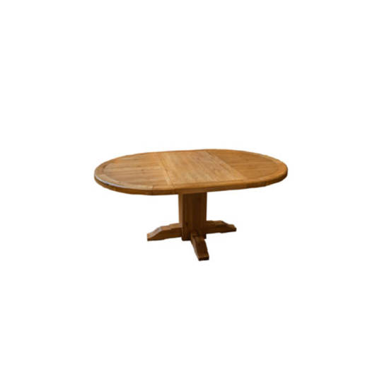 Oak Round Extension Table