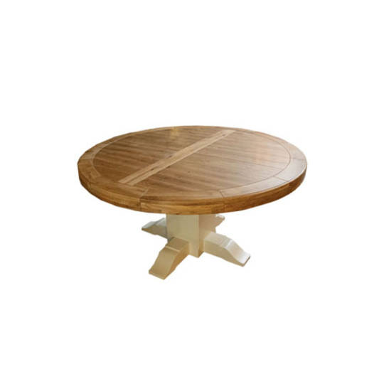 Oak Round Table With Pedestal Base