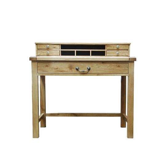 Oak Study Desk With Drawers