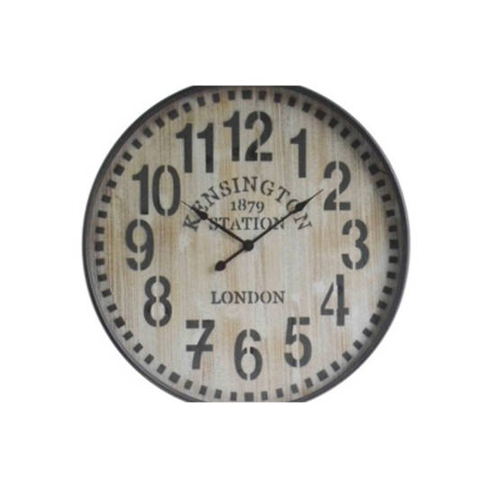 Old Town Metal Wall Clock - Wooden
