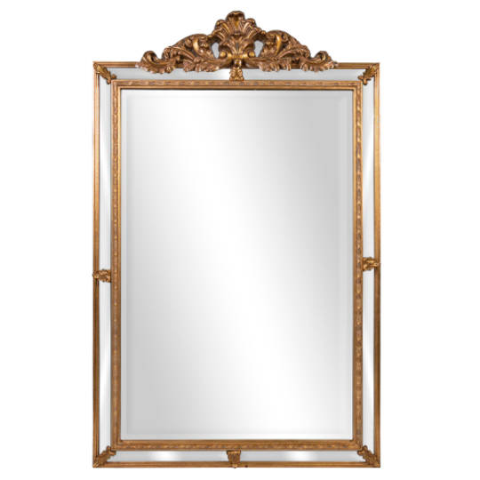 Ornate Wall Mirror With Chest