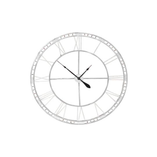 Outdoor Clock - Antique White Finish