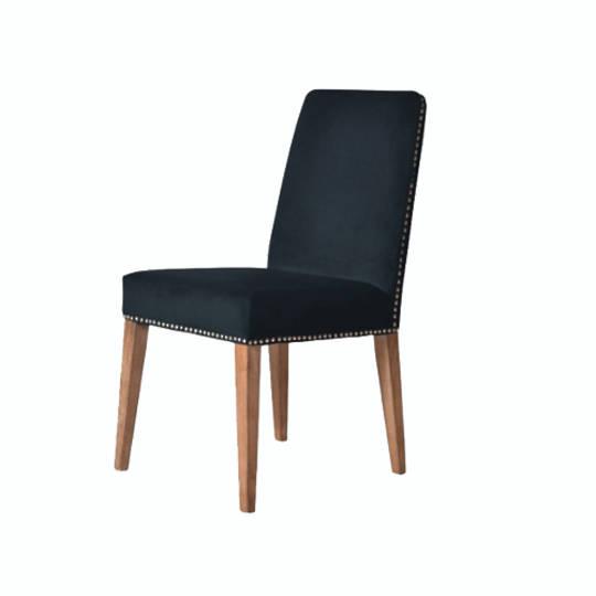 Pascal Dining Chair Navy Blue Velvet