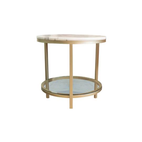 Parkville Round Brass Table
