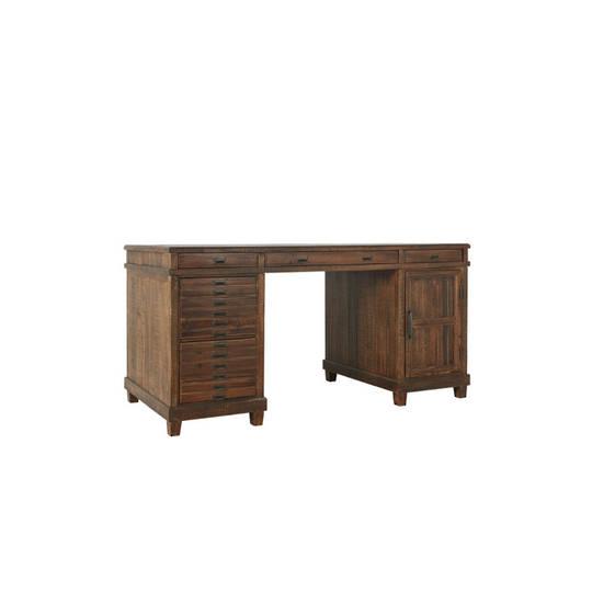 Pharmacy Drawer Office Desk in Reclaimed Fir