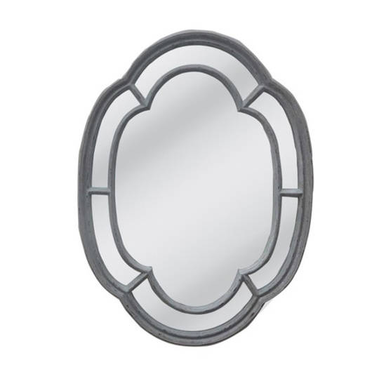 Powder Gray Frame With Flat Mirror