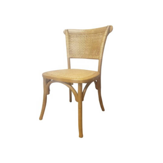 Rattan Weave Dining Chair Oak