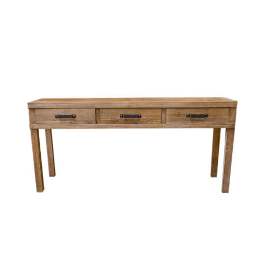 Recycled Elm 3 Drawer Hall Table