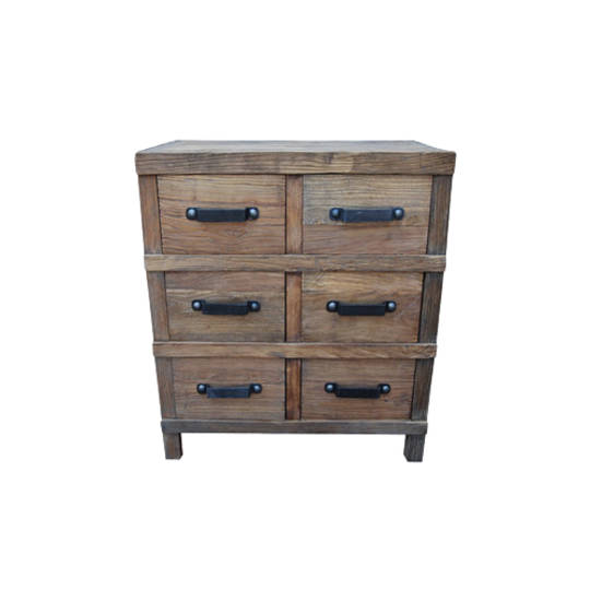 Recycled Elm 6 Drawer Chest