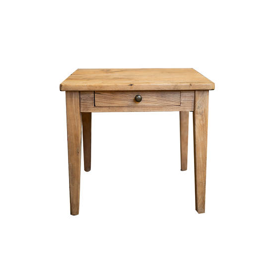 Recycled Elm French 1 Drawer Lamp Table