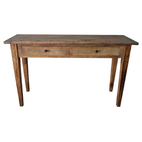 Recycled Elm French 2 Drawer Console Table