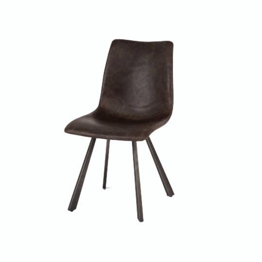 Rustic Chair Vintage Dk Brown PU