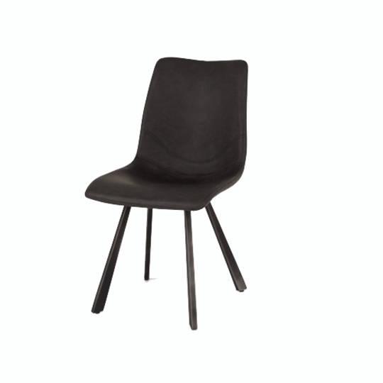 Rustic Dining Chair Grey PU
