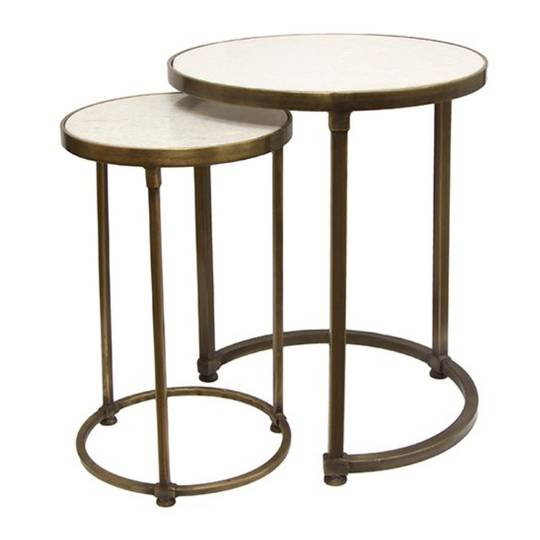 Nesting Tables Round Gold Set 2